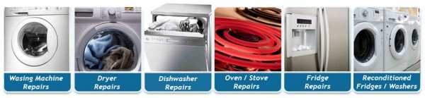 Fridge, Freezer, Washing Machine, Clothes Dryer, Dish Washer, Stove, Cook Top and Air Conditioner Repairs