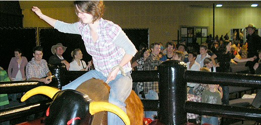 Mechanical Bull, Sumo Wrestling, Jumping Castles & Slides, Rides and Games, Arcade Games, Special Event Packages, Pinball Machine, Obstacle Course, Shooting Games, Climbing Wall, Bungee Dodge Ball.