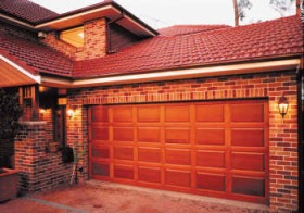 Timber Panel Garage Door