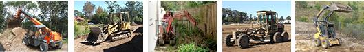 PLANT HIRE – Excavators, Backhoes, Bobcat, Grader, Bulldozer, Tipper, Water Cart, All Terrain Forklift, Front End Loader.