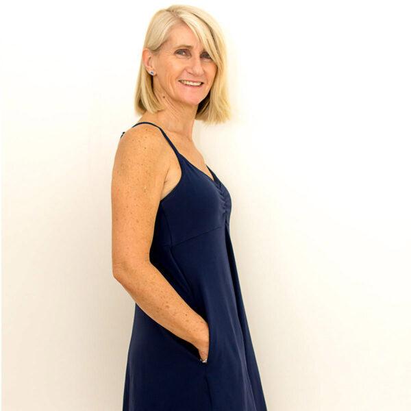 BJs PJs Kylie Cami Dress Marine Deep Blue 1