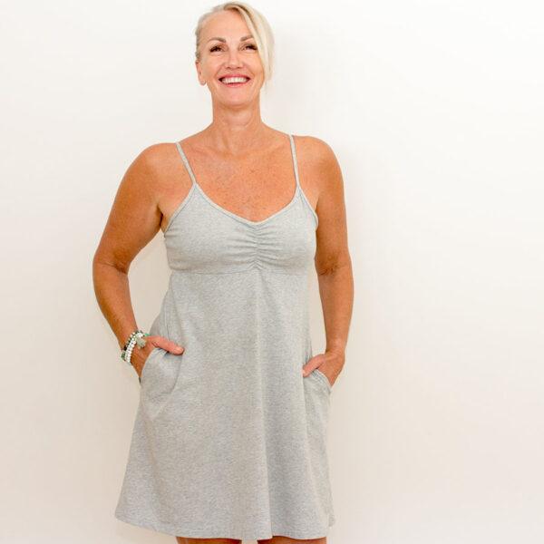 BJs PJs Kylie Cami Dress Marle Grey 3