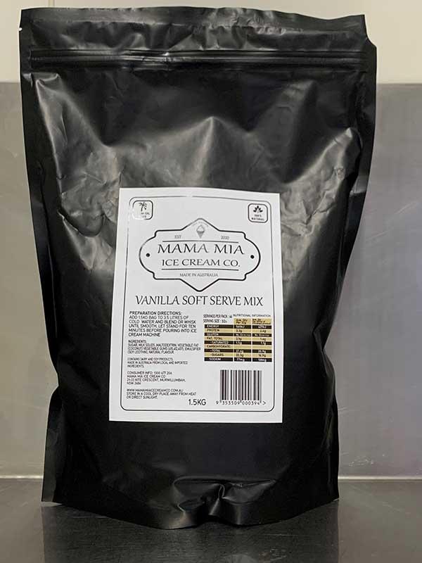 Mama Mia Ice Cream Co Vanilla Soft Serve Mix 1.5kg