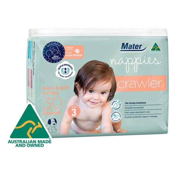 Mater Crawler Nappies 30