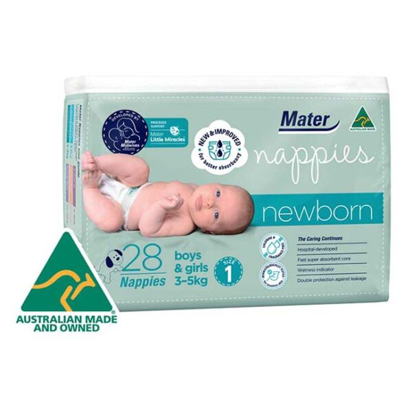 Mater Newborn Nappies 28 Pack