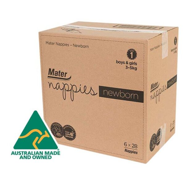 Mater Newborn Nappies 168 in Carton