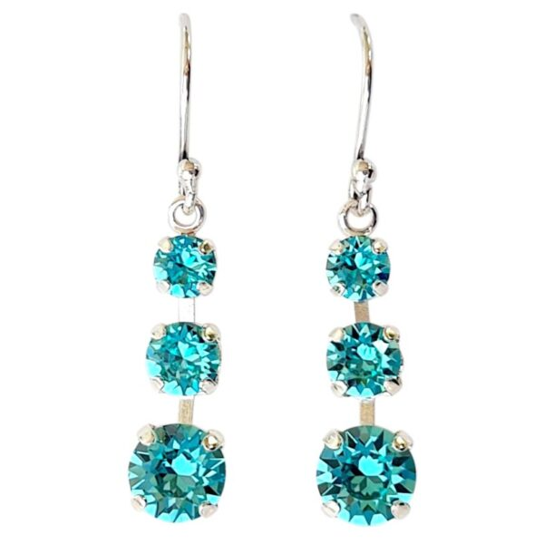 Turquoise Melinda Earrings Silver
