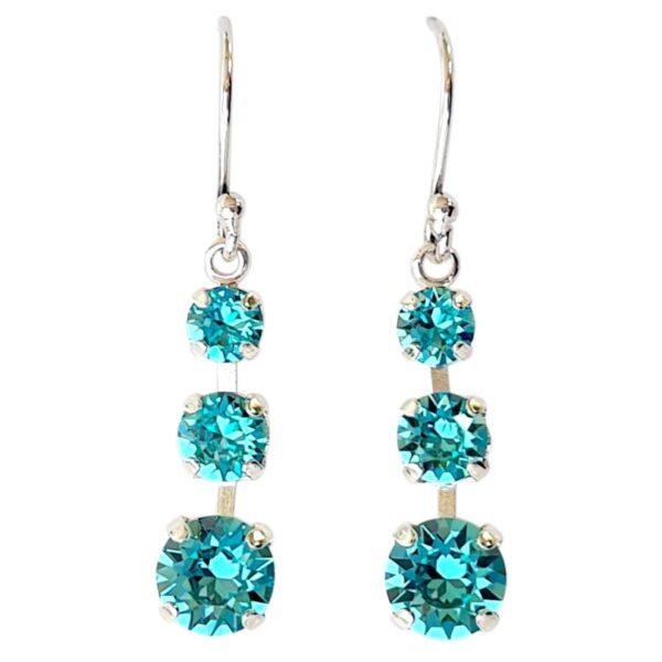 Turquoise Melinda Earrings Silver