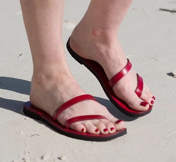 Twin Thong Leather Sandals