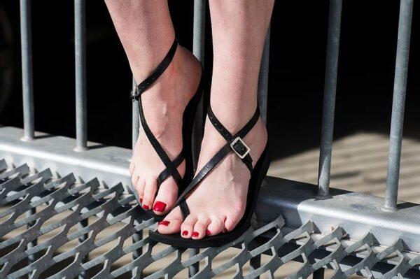 Venus Sandal - Adjustable Leather Sandal Black 2