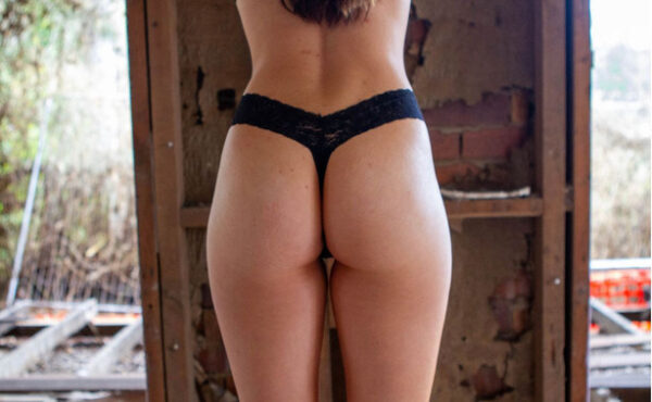 Black GString Back View