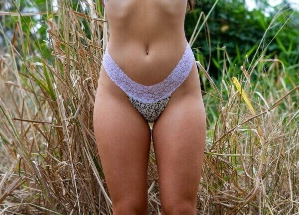White Cheetah G-String