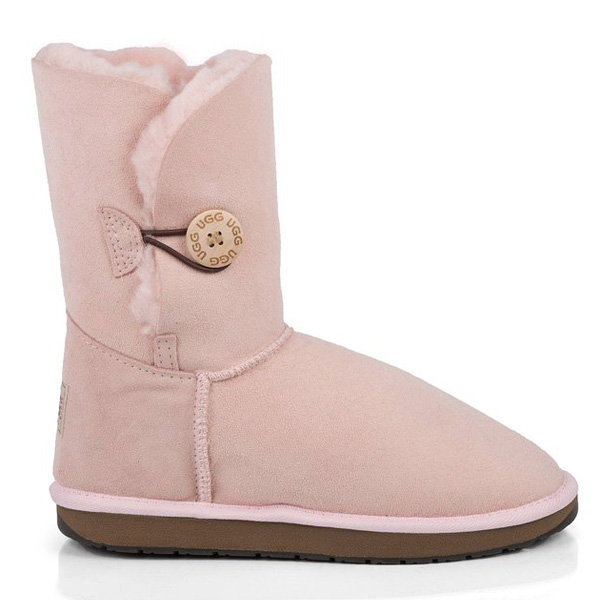 Single Button UGG Boots Pink