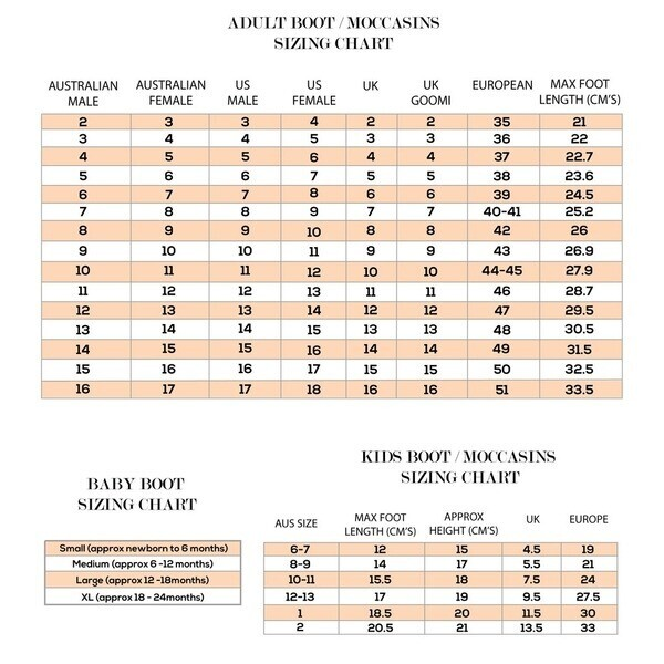 Ugg Boot Size Chart