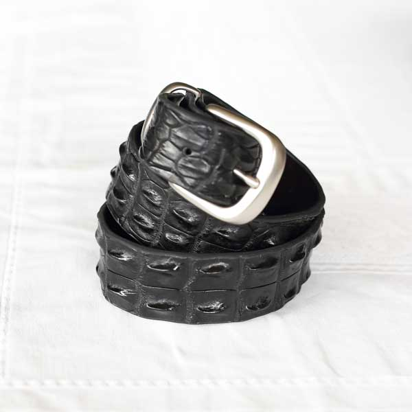 black crocodile belt