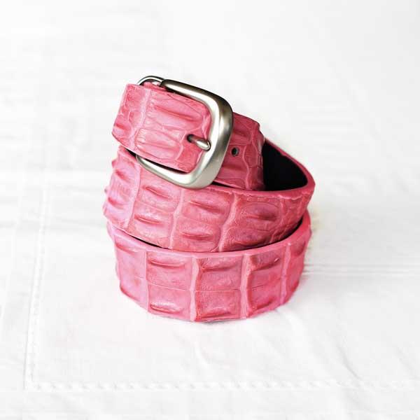 Hot Pink Crocodile Belt