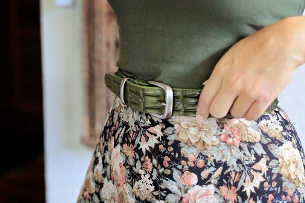Ladies Crocodile Belt