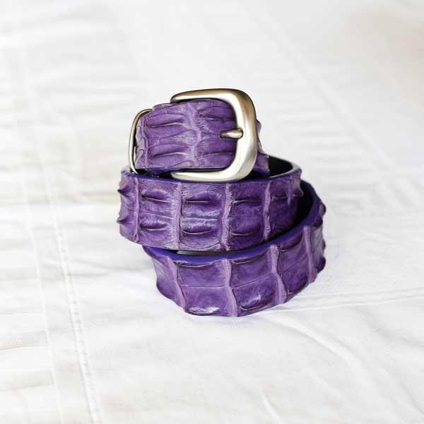 Purple Crocodile Belt